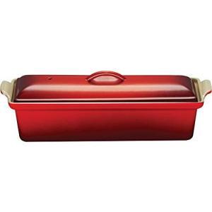 ルクルーゼ テリーヌ レクタ 32cm 鋳物 ホーロー 耐熱容器 チェリーレッド 2524-32-06|yschoice