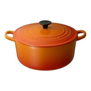 ルクルーゼ ココット ロンド ホーロー 鍋 IH 対応 20cm オレンジ|yschoice