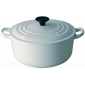 ルクルーゼ ココット ロンド ホーロー 鍋 IH 対応 18cm ホワイト 2501-18-01|yschoice