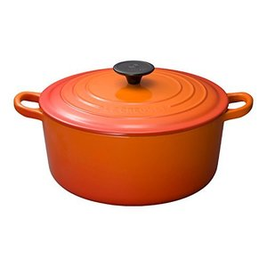 ルクルーゼ ココット ロンド ホーロー 鍋 IH 対応 24cm オレンジ|yschoice