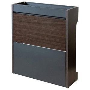 アイリスプラザ ケーブルボックス コード 収納 配線 隠す ボックスインテリア CABX-500 幅45.5×奥行14.5×高さ50cm ブラウン|yschoice