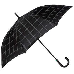 [ムーンバット] フルトン【Typhoon タイフーン】 FULTON 紳士大寸 耐風長傘70センチ チェック メンズ ブラック 日本 F (FREE|yschoice