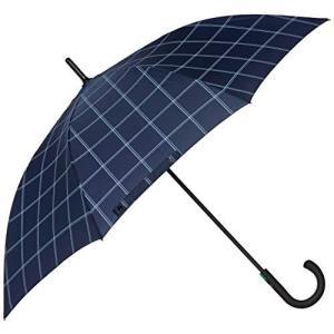 [ムーンバット] フルトン【Typhoon タイフーン】 FULTON 紳士大寸 耐風長傘70センチ チェック メンズ ネイビーブルー 日本 F|yschoice