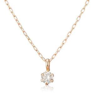 [ディーコレクション] ダイヤモンド 0.1ct ピンクゴールド K18 ネックレス DS20095PG yschoice