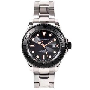 [マウロジェラルディ] 腕時計 ソーラー 3針 デイト 10気圧防水 MJ061-1 メンズ シルバー yschoice