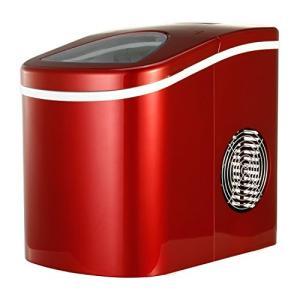 Shop405 製氷機 家庭用 新型 高速 自動製氷機 (氷 2サイズ)かき氷 レジャー アウトドア 簡単 大容量 レッド 405-imcn01 yschoice