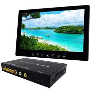 4×4 フルセグチューナー 10インチ オンダッシュモニター セット 12V 24V 対応 HDMIケーブル附属 [D1002BHDT4100]|yschoice