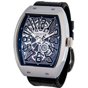 [フランク三浦] 十一号機 頑張るどモデル スケルトンウォッチ 腕時計 スケルトンブラック yschoice