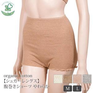 オーガニックコットン【シュガーレングス】腹巻きショーツやわらか /Leaf Cube Organic (すっぽり インナー 下着 レディース 婦人 女性用 おしゃれ)|yshopharmo
