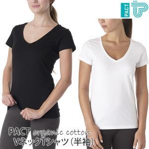 オーガニックコットン VネックTシャツ(半袖) /PACT|yshopharmo