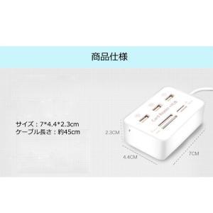 SDカードリーダー USBハブ USBカードリーダー SDメモリーカードリーダー MicroSD SD SDHC TF|ysmya|06