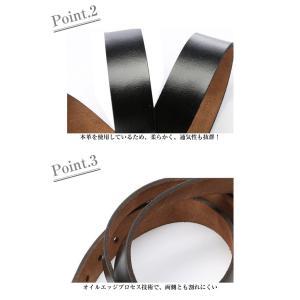 ベルト メンズ レザー 牛革ベルト 本革ベルト 紳士ベルト メンズ 革 ブラック ブラウン|ysmya|04