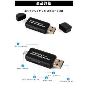 SDカードリーダー USB メモリーカードリーダー MicroSD マルチカードリーダー SDカード android スマホ タブレット ysmya 05