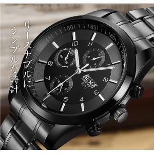 腕時計 メンズ メンズ腕時計 おしゃれ 男性用 ブラック ベルト 時計 安い 腕時計 見やすい|ysmya|04