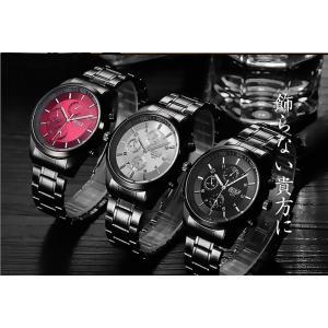 腕時計 メンズ メンズ腕時計 おしゃれ 男性用 ブラック ベルト 時計 安い 腕時計 見やすい|ysmya|05