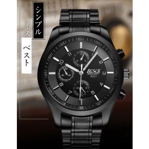 腕時計 メンズ メンズ腕時計 おしゃれ 男性用 ブラック ベルト 時計 安い 腕時計 見やすい|ysmya|06