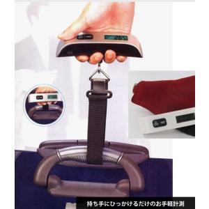ラゲッジチェッカー デジタルスケール 携帯式 はかり 50kg デジタル 計量器 吊り下げ式 旅行 釣り ysmya 03