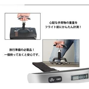 ラゲッジチェッカー デジタルスケール 携帯式 はかり 50kg デジタル 計量器 吊り下げ式 旅行 釣り ysmya 05