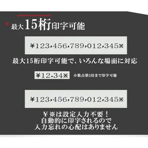 電子チェックライター 15桁 重複印字 演算機能 省電力 奥行 最大 80mm 小切手 手形 事務用品 文房具 約束手形 領収書 領収証 TOKAI|ysmya|05