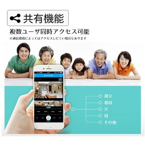 監視カメラ 防犯カメラ 日本語APP 1年保証 室内 ワイヤレス WiFi 無線 家庭用 介護 小型 録画 長時間 人感センサー 動体検知 スマホ操作 フルHD ysmya 17