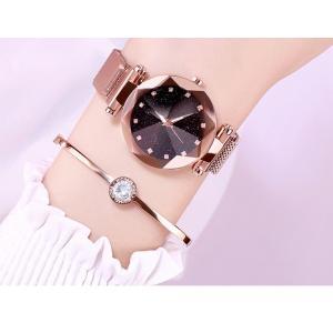 レディース 星空ウォッチ 腕時計 レディースウォッチ ドレスウォッチ 磁気クラスプ 美しい レディース腕時計 金属 パープル ブラック 送料無料 ポイント消化|ysmya|12