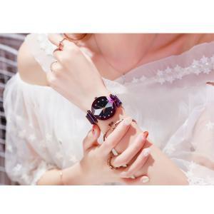 レディース 星空ウォッチ 腕時計 レディースウォッチ ドレスウォッチ 磁気クラスプ 美しい レディース腕時計 金属 パープル ブラック 送料無料 ポイント消化|ysmya|14