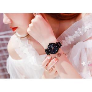 レディース 星空ウォッチ 腕時計 レディースウォッチ ドレスウォッチ 磁気クラスプ 美しい レディース腕時計 金属 パープル ブラック 送料無料 ポイント消化|ysmya|16