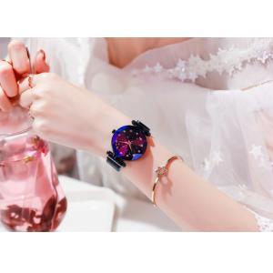 レディース 星空ウォッチ 腕時計 レディースウォッチ ドレスウォッチ 磁気クラスプ 美しい レディース腕時計 金属 パープル ブラック 送料無料 ポイント消化|ysmya|18