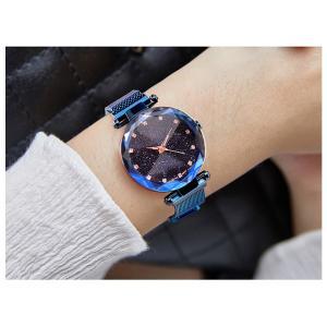 レディース 星空ウォッチ 腕時計 レディースウォッチ ドレスウォッチ 磁気クラスプ 美しい レディース腕時計 金属 パープル ブラック 送料無料 ポイント消化|ysmya|04