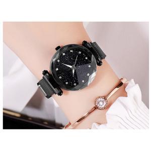 レディース 星空ウォッチ 腕時計 レディースウォッチ ドレスウォッチ 磁気クラスプ 美しい レディース腕時計 金属 パープル ブラック 送料無料 ポイント消化|ysmya|05