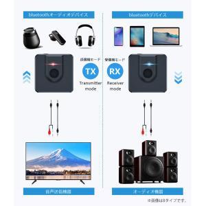 bluetooth トランスミッター 5.0 switch対応 ブルートゥース 送信機 受信機 レシーバー イヤホン テレビ 光 TX RX 送受信両対応 高音質|ysmya|06