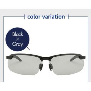 サングラス メンズ 4点セット 偏光 調光 紫外線カット 明るさでレンズ濃度が変わる スポーツサングラス メガネ 眼鏡|ysmya|12