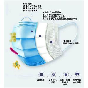 在庫処分 マスク 60枚入り 使い捨て 日本国内発送 三層構造 不織布 男女兼用 ウイルス 防塵 花粉 飛沫対策|ysmya|02