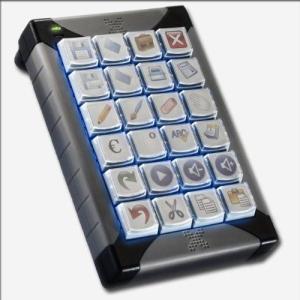 Xキー X-keysデスクトップ24キーバッド(USB対応) XK-24-USB-R|ysol