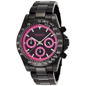 ブルッキアーナBROOKIANA クロノグラフ 10気圧防水 ピンク×オールブラックメタル 腕時計 BA1701-BKPK メンズ 腕時計|ysy