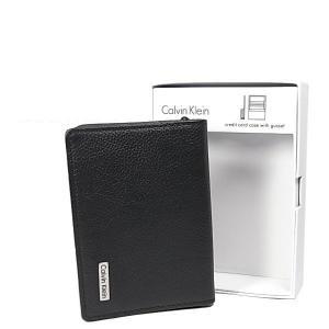 Calvin Klein カルバンクライン カードケース 名刺入れ 79218 BK ブラック CK メンズ|ysy