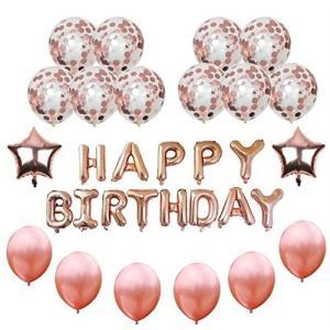 YSAK 風船 バルーン パーティー ウェディング 誕生日 結婚式 飾り付け 空気入れ 装飾用テープ 31個 セット (バースデイ)|ysy