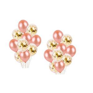 YSAK 風船 バルーン パーティー ピンク ラメ入り 誕生日 結婚式 ウェディング 装飾 飾り 空気入れ セット (ピンク系金ラメセット)|ysy