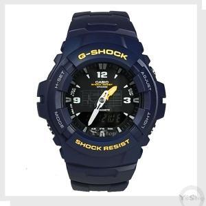 [外箱キズあり] 送料無料 【CASIO】 G-SHOCK Gーショック  腕時計 ネイビー G-100-2BVMES 海外モデル|ysy
