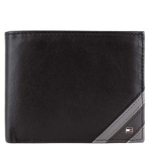 TOMMY HILFIGER トミー 二つ折り財布 ブラック 小銭入れ AM0AM04223 002 [並行輸入品]|ysy