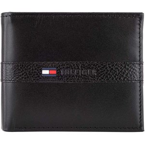 TOMMY HILFIGER トミーヒルフィガー 二つ折り 小銭入れ付き 折財布 31TL25X001 ブラック メンズ  並行輸入品 BLACK|ysy
