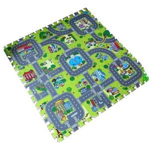 YSAK ジョイントマット 9枚セット キッズ マット パズル フロアマット 耐水性 赤ちゃん 道路 床保護 知育|ysy