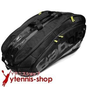 海外限定品バボラ(BabolaT) チームエクスクルーシブ テニスバッグ 12本用 ブラック バックパック機能ありラケットバッグ国内未発売