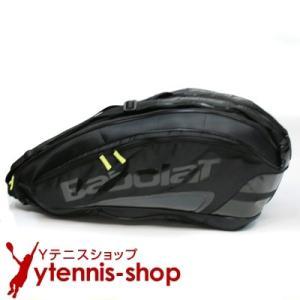 バボラ(BabolaT) チームエクスクルーシブ テニスバッグ 6本用 ブラック バックパック機能ありラケットバッグ国内未発売
