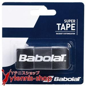 【新パッケージ】ネコポス250円 バボラ(BabolaT) スーパーテープ ブラック テニスラケット保護軽量テープ ytennis-shop