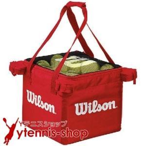最安値挑戦中 ネコポス不可 ウイルソン(Wilson) テニスボール 収納バッグ 150球収納可能 レッド