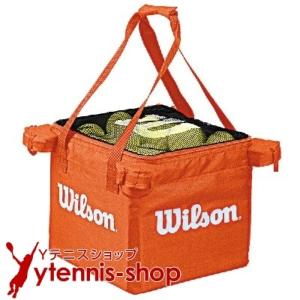 最安値挑戦中 ネコポス不可 ウイルソン(Wilson) テニスボール 収納バッグ 150球収納可能 オレンジ
