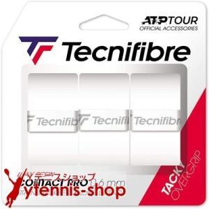 【新パッケージ】テクニファイバー(Tecnifibre) コンタクトプロ オーバーグリップテープ 3本パック ホワイト|ytennis-shop