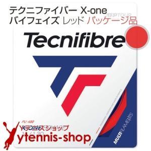テクニファイバー(Tecnifiber) X-ONE バイフェイズ(biphase) レッド 1.18mm/1.24mm/1.30mm  パッケージ品|ytennis-shop