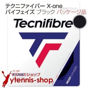 テクニファイバー(Tecnifiber) X-ONE バイフェイズ(biphase) ブラック 1.24mm/1.30mm  テニス ガット パッケージ品|ytennis-shop